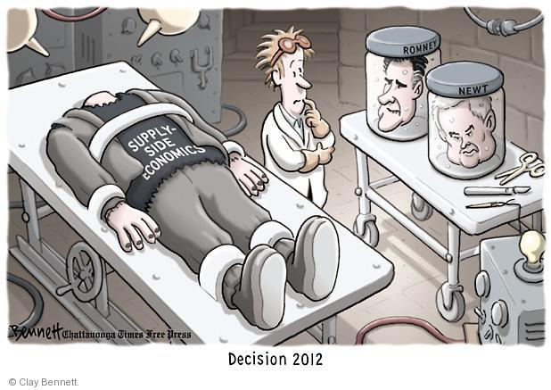 Supply-side economics. Romney. Newt. Decision 2012.
