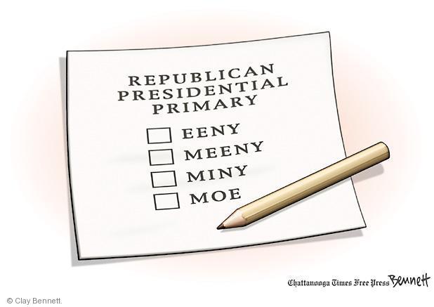 Clay Bennett  Clay Bennett's Editorial Cartoons 2012-03-13 presidential election