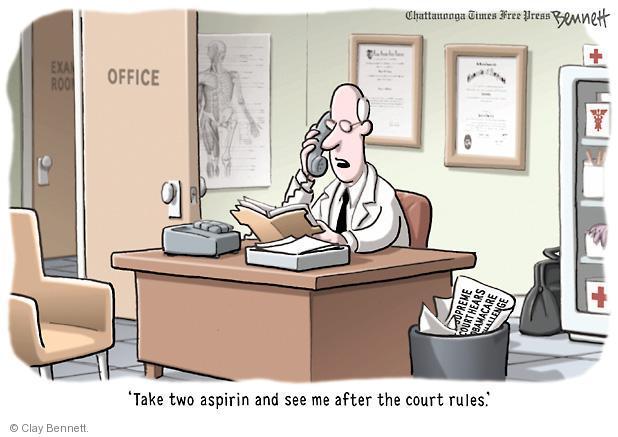 Clay Bennett  Clay Bennett's Editorial Cartoons 2012-03-27 Supreme Court