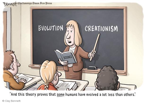 Clay Bennett  Clay Bennett's Editorial Cartoons 2012-04-09 theory