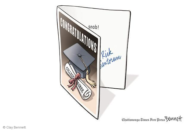 Cartoonist Clay Bennett  Clay Bennett's Editorial Cartoons 2012-05-07 college