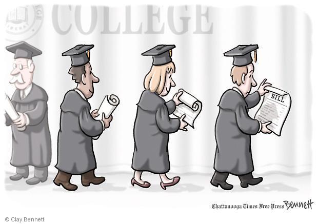 Cartoonist Clay Bennett  Clay Bennett's Editorial Cartoons 2012-05-15 college