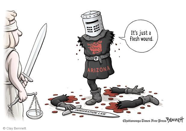 Clay Bennett  Clay Bennett's Editorial Cartoons 2012-06-26 Arizona immigration