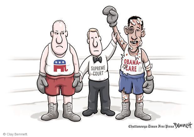 Clay Bennett  Clay Bennett's Editorial Cartoons 2012-06-29 boxing