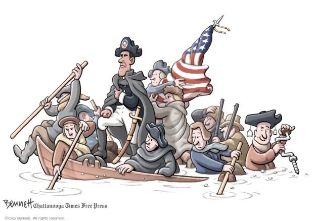 Cartoonist Clay Bennett  Clay Bennett's Editorial Cartoons 2012-07-05 American flag