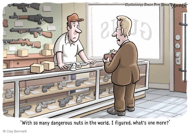 Cartoonist Clay Bennett  Clay Bennett's Editorial Cartoons 2012-07-24 assault rifle