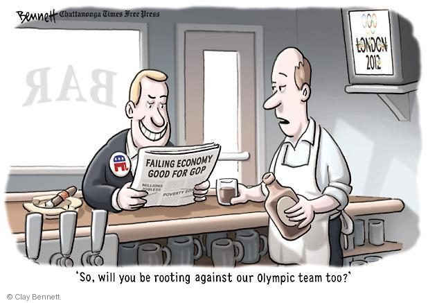Cartoonist Clay Bennett  Clay Bennett's Editorial Cartoons 2012-07-27 recession