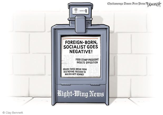 Cartoonist Clay Bennett  Clay Bennett's Editorial Cartoons 2012-08-20 insult
