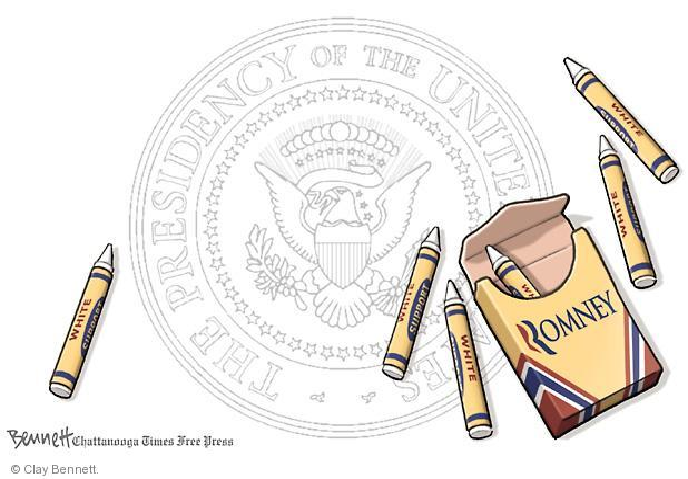 Clay Bennett  Clay Bennett's Editorial Cartoons 2012-08-29 presidential election
