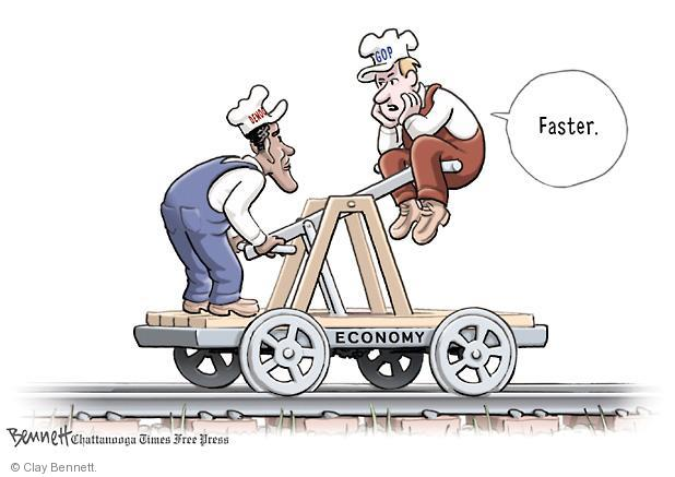 Clay Bennett  Clay Bennett's Editorial Cartoons 2012-09-14 2012 election economy