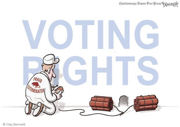Clay Bennett  Clay Bennett's Editorial Cartoons 2012-09-24 voter fraud