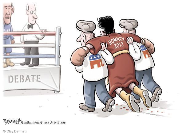 Clay Bennett  Clay Bennett's Editorial Cartoons 2012-09-28 boxing
