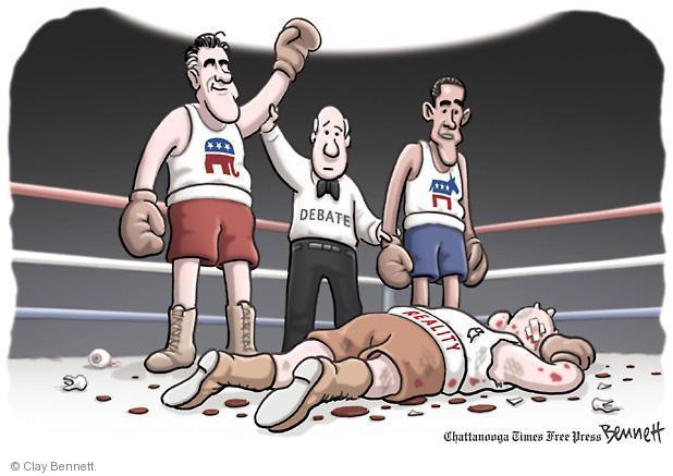 Clay Bennett  Clay Bennett's Editorial Cartoons 2012-10-08 boxing