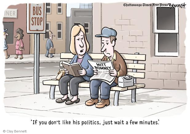 Cartoonist Clay Bennett  Clay Bennett's Editorial Cartoons 2012-10-10 minute