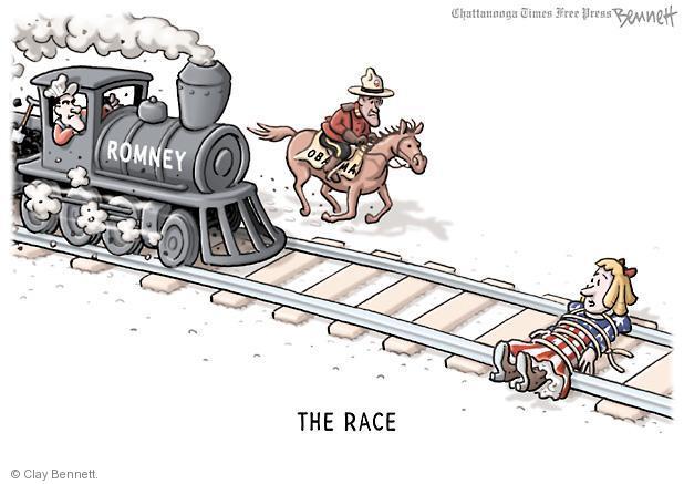 Cartoonist Clay Bennett  Clay Bennett's Editorial Cartoons 2012-10-17 race