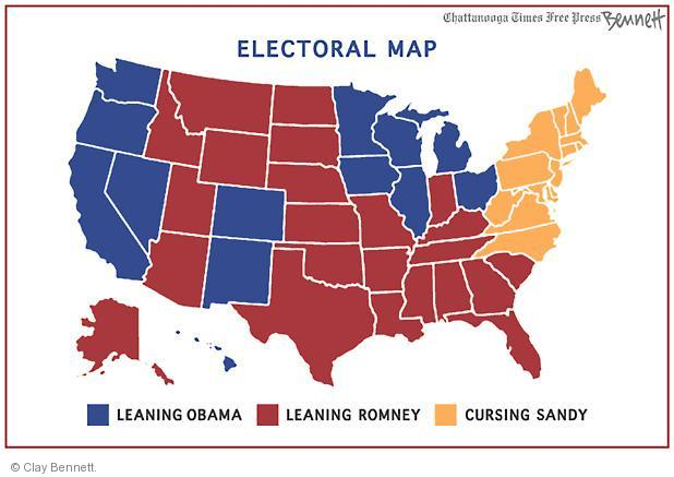Cartoonist Clay Bennett  Clay Bennett's Editorial Cartoons 2012-10-30 2012 election