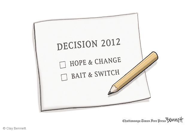 Clay Bennett  Clay Bennett's Editorial Cartoons 2012-11-06 presidential election