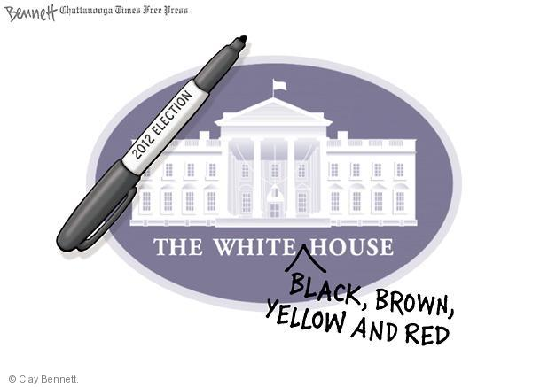 Cartoonist Clay Bennett  Clay Bennett's Editorial Cartoons 2012-11-08 black and white