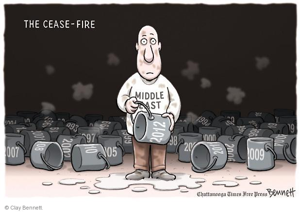 Clay Bennett  Clay Bennett's Editorial Cartoons 2012-11-23 Israel