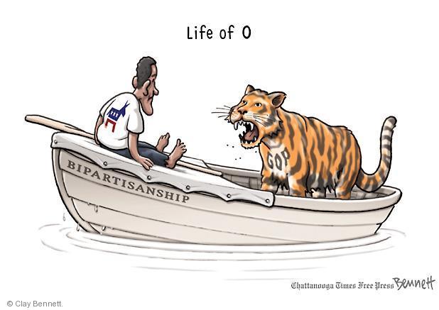 Cartoonist Clay Bennett  Clay Bennett's Editorial Cartoons 2012-11-26 Obama republicans