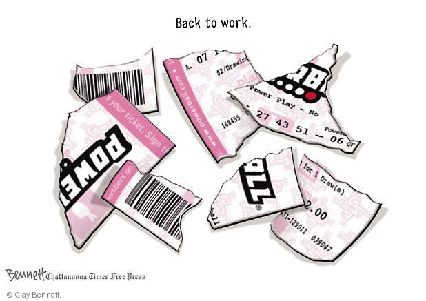 Clay Bennett  Clay Bennett's Editorial Cartoons 2012-11-29 gamble