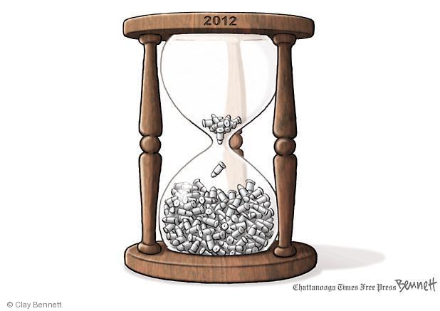 Cartoonist Clay Bennett  Clay Bennett's Editorial Cartoons 2012-12-27 bullet
