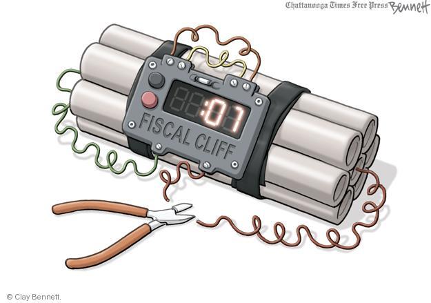 Cartoonist Clay Bennett  Clay Bennett's Editorial Cartoons 2013-01-03 fiscal cliff