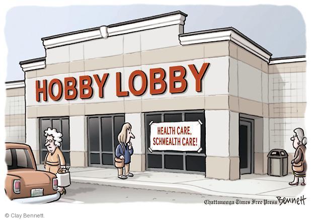 Cartoonist Clay Bennett  Clay Bennett's Editorial Cartoons 2013-01-07 Hobby Lobby