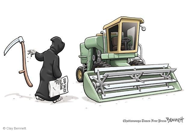 Cartoonist Clay Bennett  Clay Bennett's Editorial Cartoons 2013-01-09 assault weapon