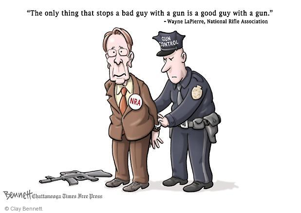 Cartoonist Clay Bennett  Clay Bennett's Editorial Cartoons 2013-01-14 assault weapon