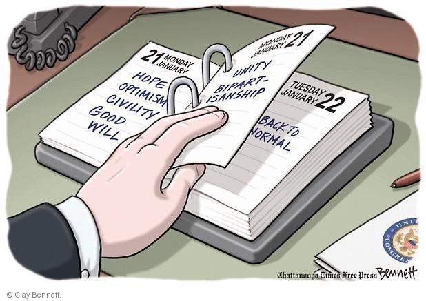 Cartoonist Clay Bennett  Clay Bennett's Editorial Cartoons 2013-01-22 back