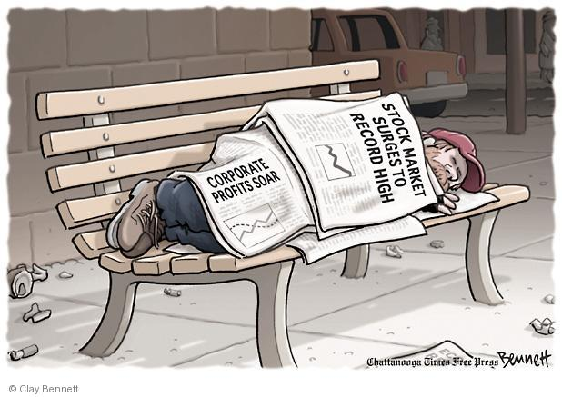 Cartoonist Clay Bennett  Clay Bennett's Editorial Cartoons 2013-03-07 unemployment