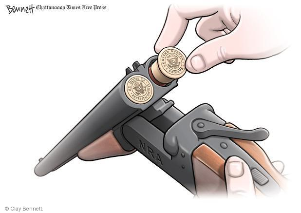 Cartoonist Clay Bennett  Clay Bennett's Editorial Cartoons 2013-03-21 assault weapon