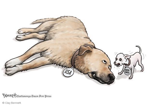 Cartoonist Clay Bennett  Clay Bennett's Editorial Cartoons 2013-04-11 Korea