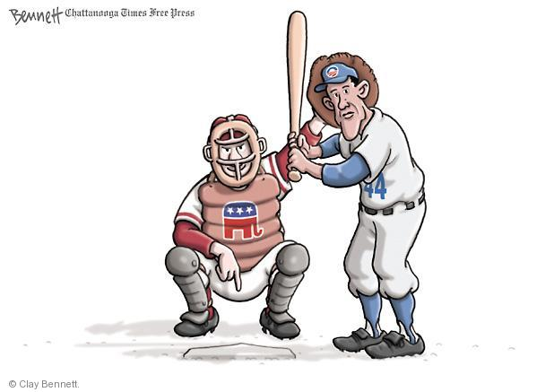 Cartoonist Clay Bennett  Clay Bennett's Editorial Cartoons 2013-04-15 Obama Romney