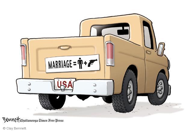 Cartoonist Clay Bennett  Clay Bennett's Editorial Cartoons 2013-04-18 gun rights