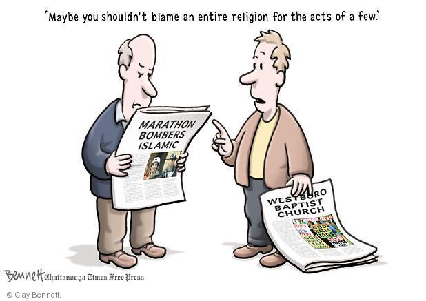 Clay Bennett  Clay Bennett's Editorial Cartoons 2013-04-22 explosion