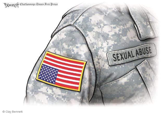 Cartoonist Clay Bennett  Clay Bennett's Editorial Cartoons 2013-05-13 military uniform