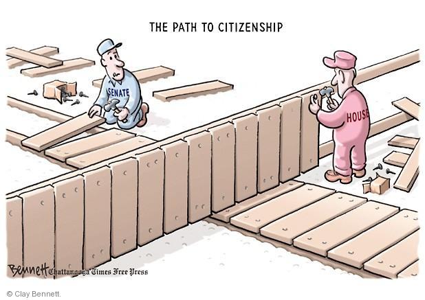 Clay Bennett  Clay Bennett's Editorial Cartoons 2013-06-25 immigration bill