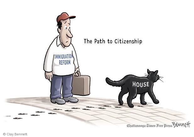 Clay Bennett  Clay Bennett's Editorial Cartoons 2013-07-11 immigration bill