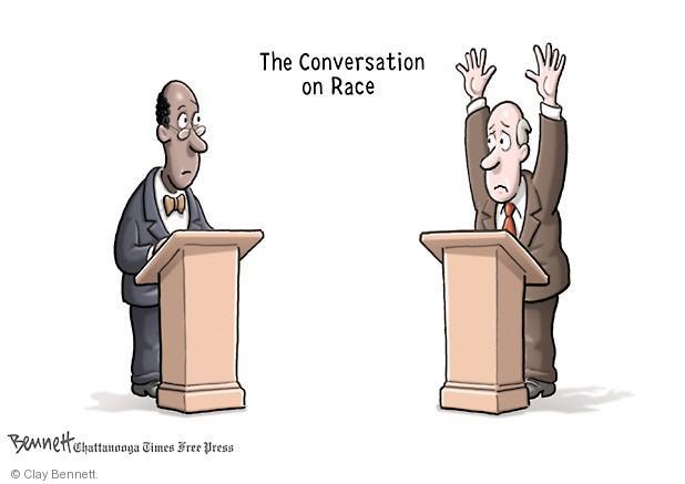 Cartoonist Clay Bennett  Clay Bennett's Editorial Cartoons 2013-07-23 race