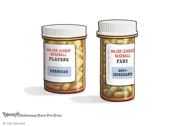 Major League Baseball Players. Steroids. Major League Baseball Fans. Anti-depressants.