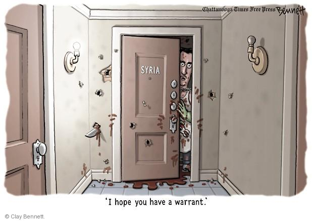 Cartoonist Clay Bennett  Clay Bennett's Editorial Cartoons 2013-09-05 bloody