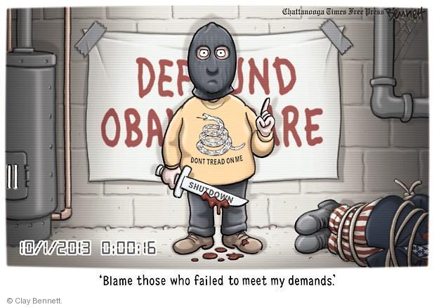 Cartoonist Clay Bennett  Clay Bennett's Editorial Cartoons 2013-10-01 government budget