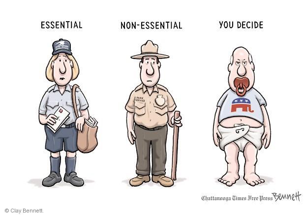 Cartoonist Clay Bennett  Clay Bennett's Editorial Cartoons 2013-10-02 government budget