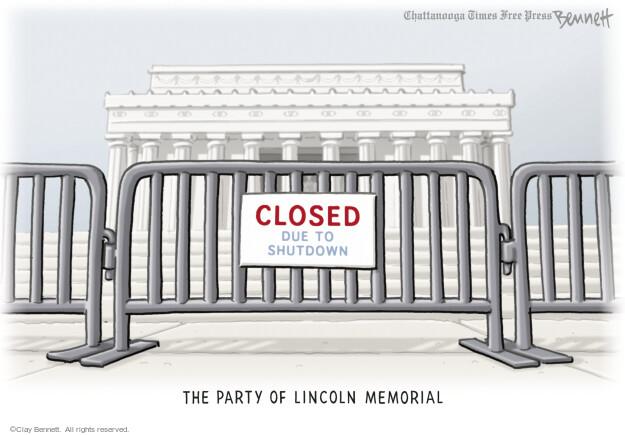 Cartoonist Clay Bennett  Clay Bennett's Editorial Cartoons 2013-10-11 government budget