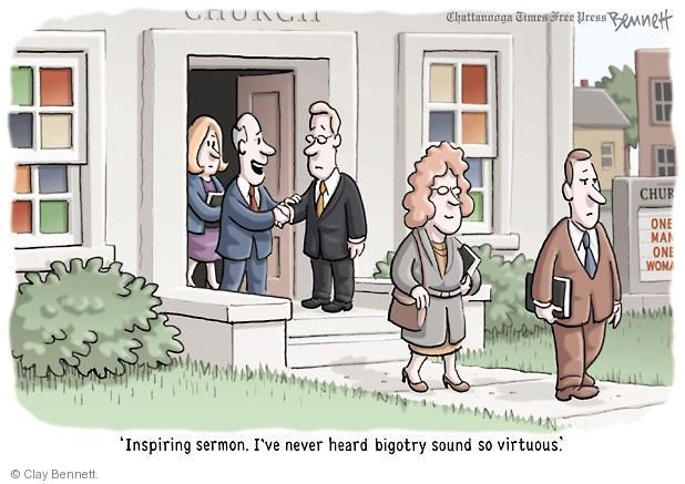 Clay Bennett  Clay Bennett's Editorial Cartoons 2013-11-19 bigotry
