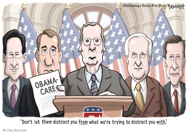 Clay Bennett  Clay Bennett's Editorial Cartoons 2013-11-26 Mitch McConnell