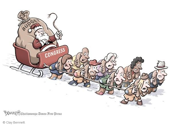 Clay Bennett  Clay Bennett's Editorial Cartoons 2013-12-18 budget