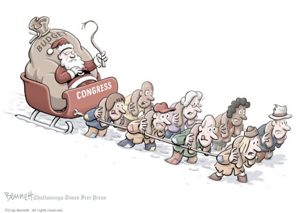 Cartoonist Clay Bennett  Clay Bennett's Editorial Cartoons 2013-12-18 negotiation